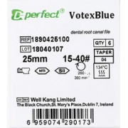 V-Blue (Vortex Blue) FILE. NiTi Машинные файлы Perfect Dental.