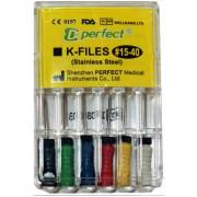 Ручные стальные K-files / H-files / Reamers. Perfect Dental