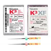 K³, K³XF НИКЕЛЬ-ТИТАНОВЫЕ машинные эндодонтические файлы